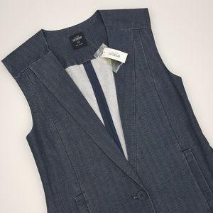 Kate Spade Saturday Suit Yourself Vest- Blue- XS